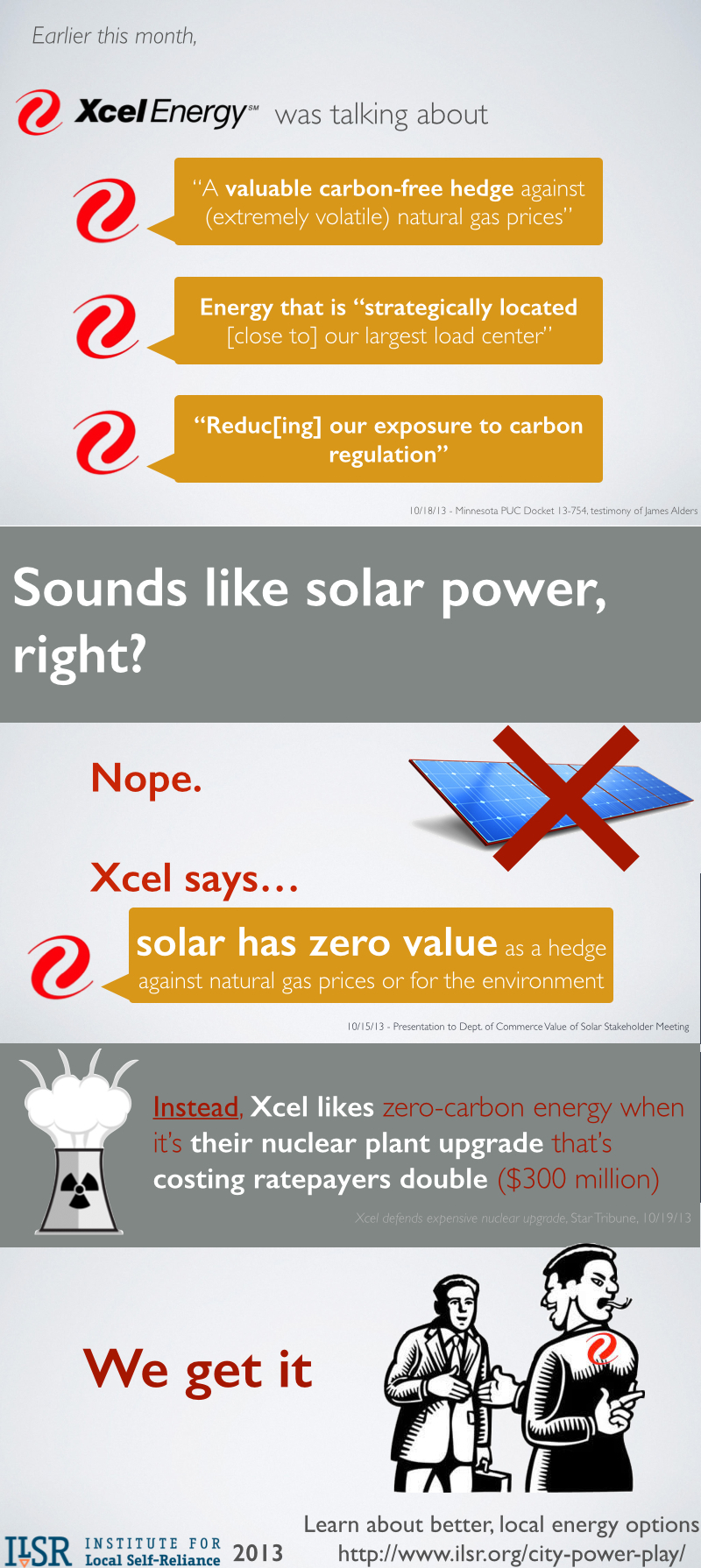 Xcel Two-Faced on Value of Solar Power