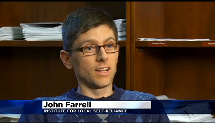 Watch: On WCCO, ILSR Director of Democratic Energy Discusses Xcel Energy Rate Hike