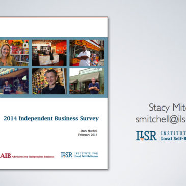 Findings of the 2014 Independent Business Survey