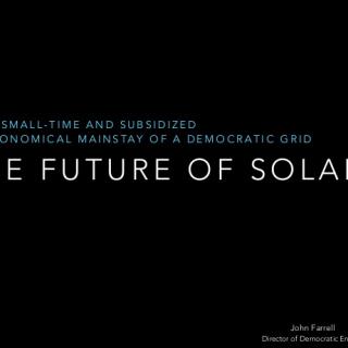 future of solar presentation cover