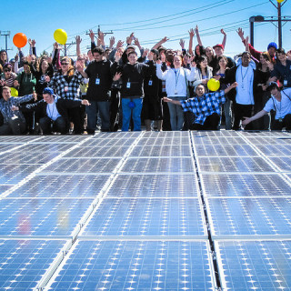 community solar people cheering - BlackRockSolar flickr