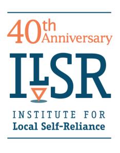 40th Anniversary ILSR Logo