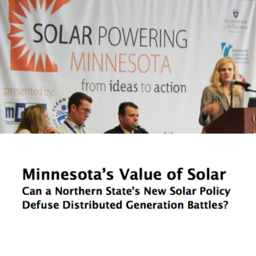 Report: Minnesota's Value of Solar