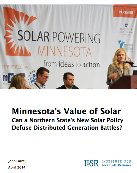 Report: Minnesota's Value of Solar