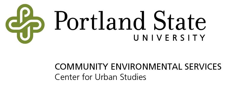 Working Partner Update: Community Environmental Services, Portland State University