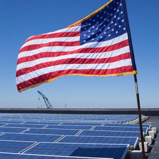 solar and flag - flickr Deval Patrick