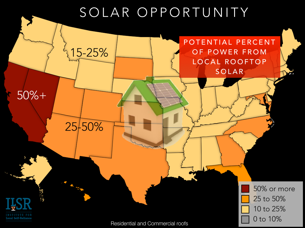 rooftop solar opportunity technical potential - ilsr