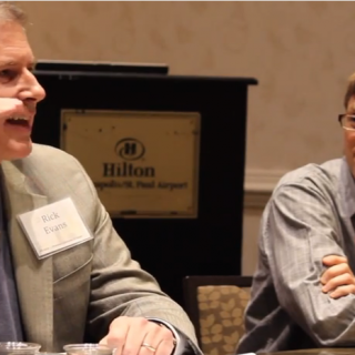 rick evans and john farrell debate value of solar MNSEIA conference Nov 2014