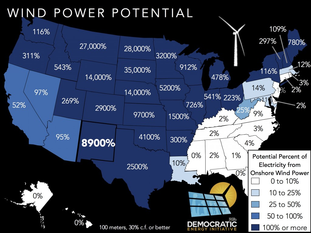 wind power potential NM ILSR
