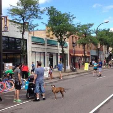 Photo: Open Streets in northeast Minneapolis.