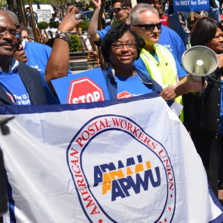 Photo: American Postal Workers Union for the Postal Workers' National Day of Action.