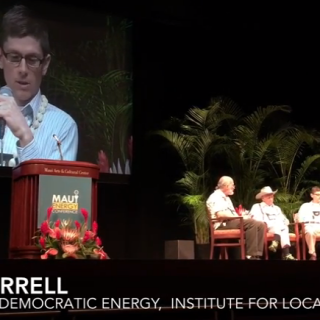 JF in video of Maui Energy Conference