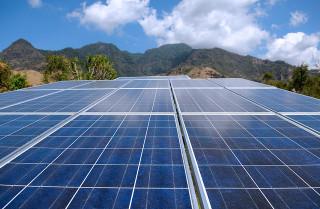 solar panels and mountains - flickr Bart Speelman