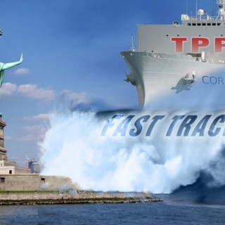 TPP ship and statue of liberty