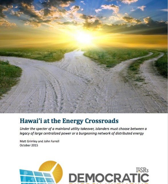 Hawai'i at the Energy Crossroads