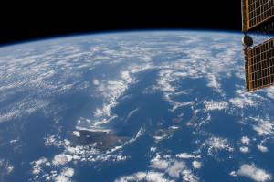 hawaiian island satellite
