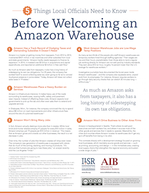 5 Things Local Officials Need to Know About Amazon | Institute for ...