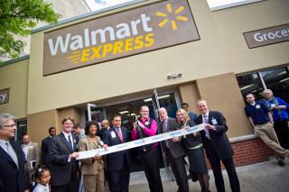 Photo: Ribbon cutting at a Walmart expansion.