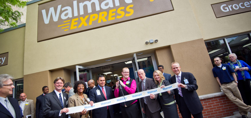Photo: Ribbon cutting at a Walmart expansion.