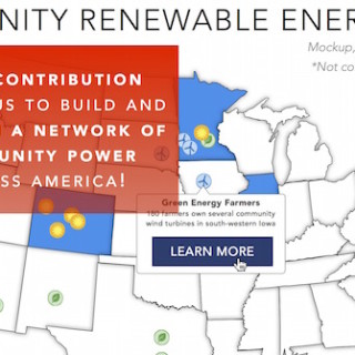 community renewable energy mockup