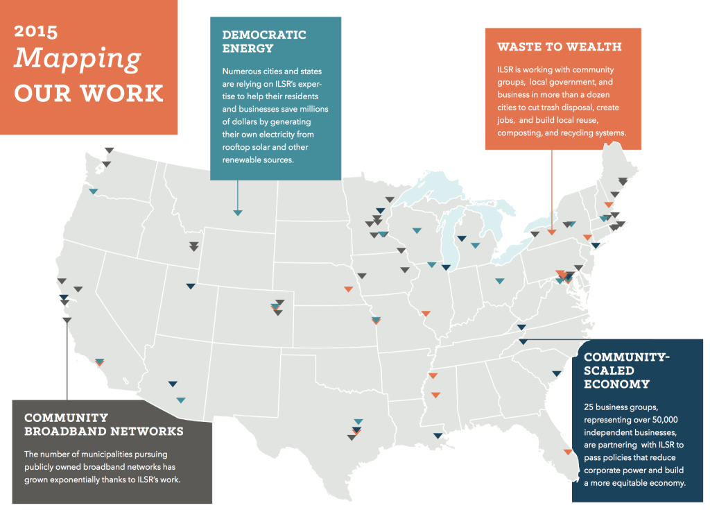 Image: Map from ILSR's Annual Report