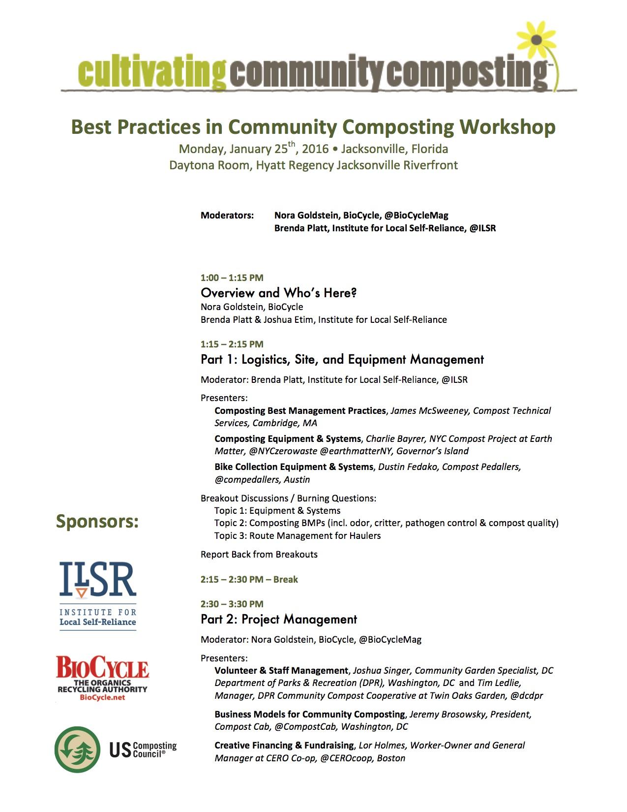 Best Practices in Community Composting agenda 01-24-16 version (1)