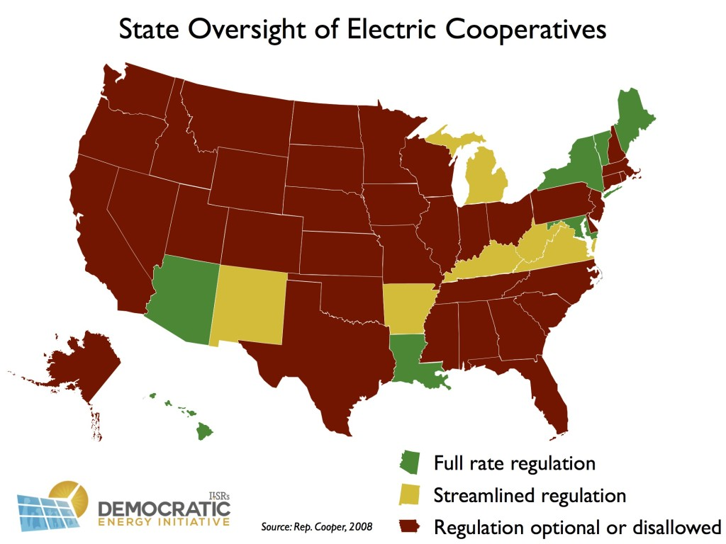 state oversight of electric cooperatives 2008 ILSR