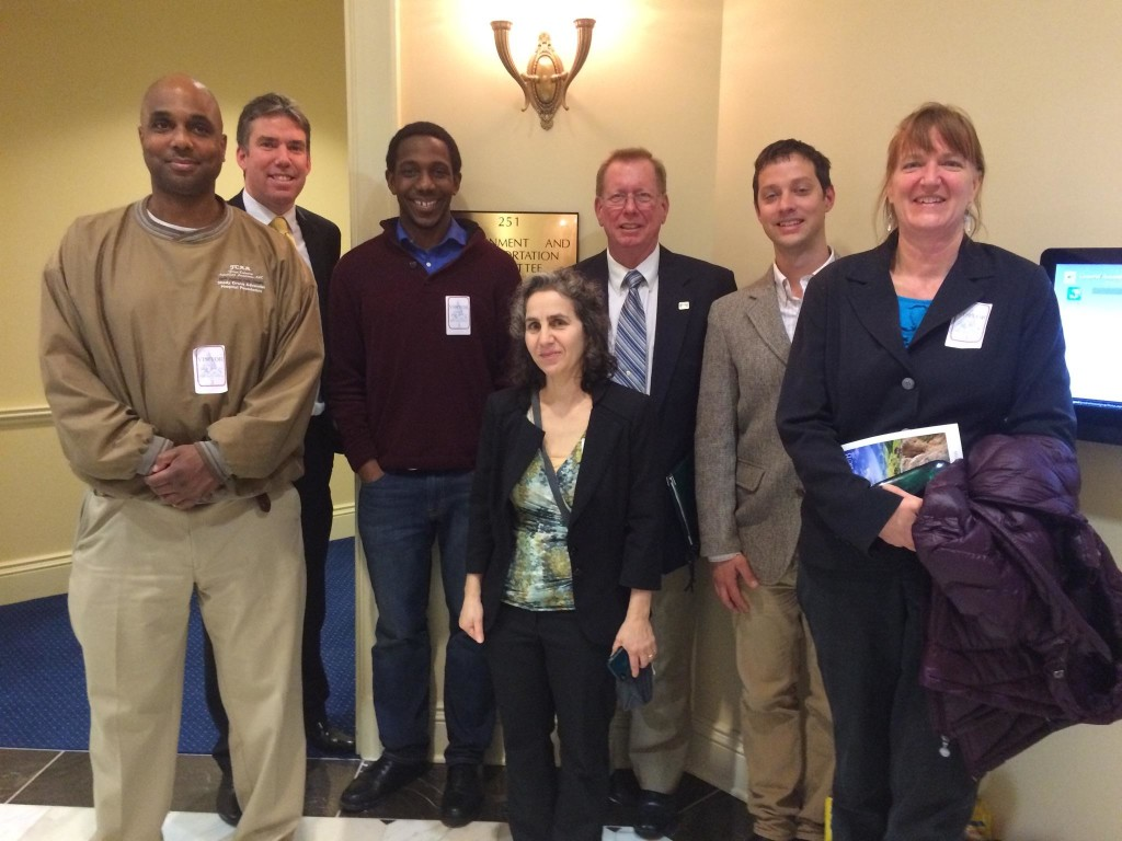 Christopher Bradford (Organic Agriculture Recycling), MD Delegate Shane Robinson, Josh Etim (ILSR), Brenda Platt (ILSR), Mike Toole (MD-DC Composting Council), Vinnie Bevivino (Chesapeake Compost Works), and Beth LeaMond (Greenbelters for Zero Waste).