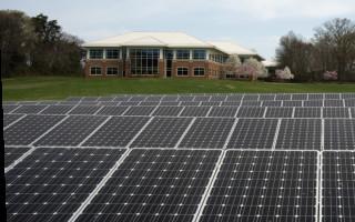 solar panels and building - flickr USDA