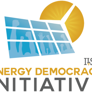 ILSR Energy Democracy Initiative Logo - Stacked