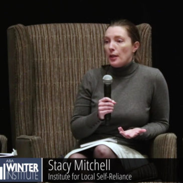 Watch: Stacy Mitchell Speaks on the New Localism