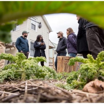 FLOTUS Tours ILSR Staff Member's Backyard Garden