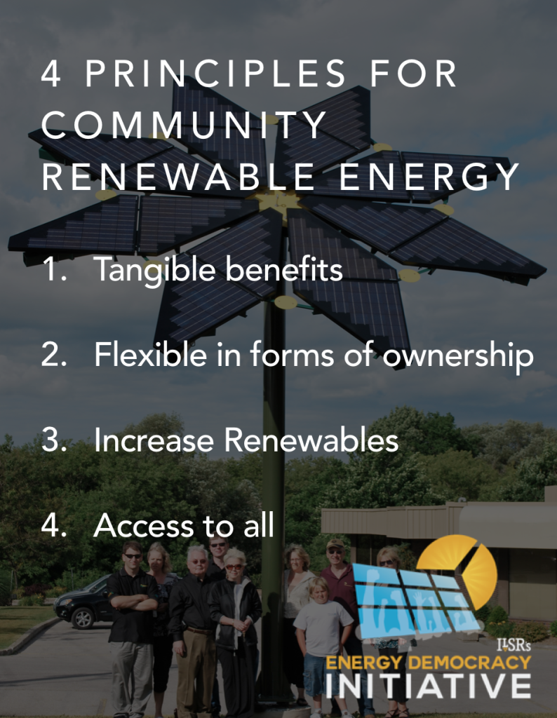 4 principles for community renewable energy