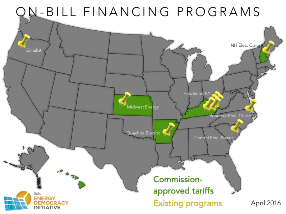 Trnsprt On Bill Financing Map