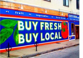 buy local sign - flickr Steve Garfield