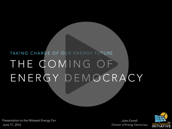 Video: The Coming of Energy Democracy – Midwest Renewable Energy Fair