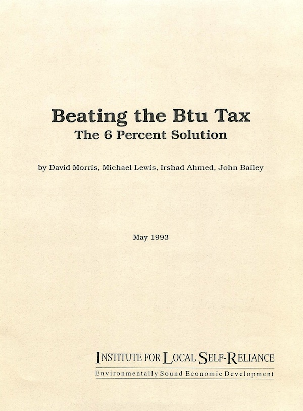 Beating the BTU Tax:  The 6 Percent Solution