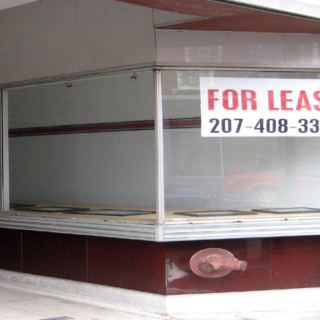 Photo: Storefront for lease.