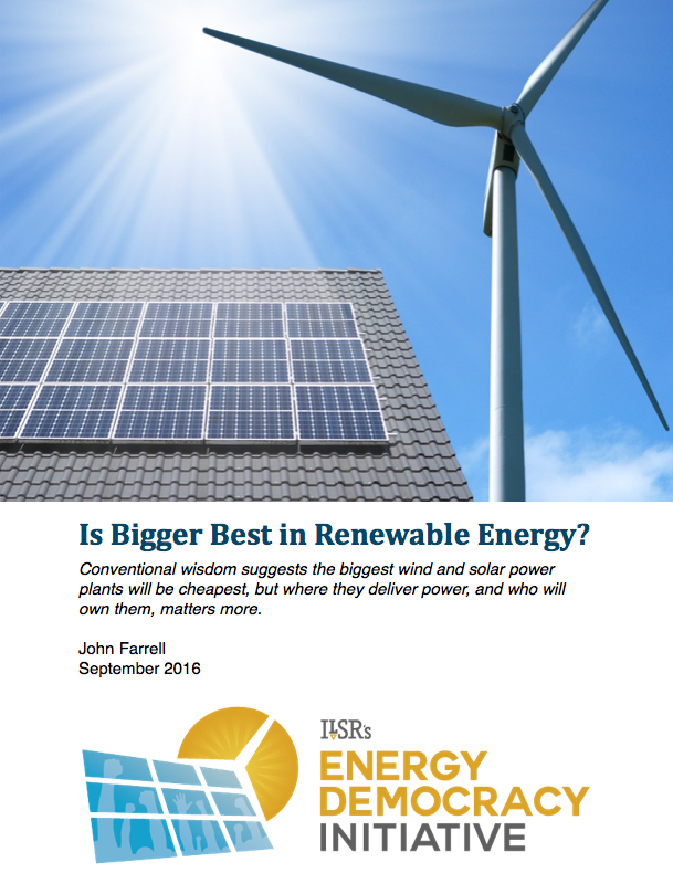 Webinar: Is Bigger Best in Renewable Energy? – Register Now