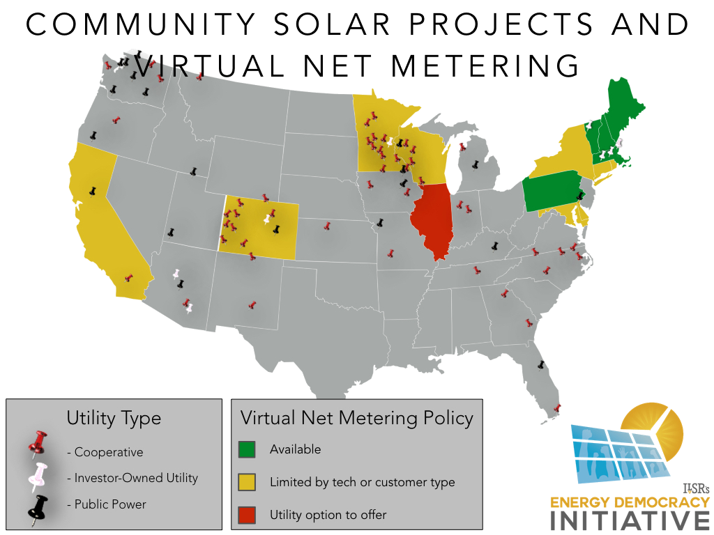 Community Solar Projects and Virtual Net Metering.