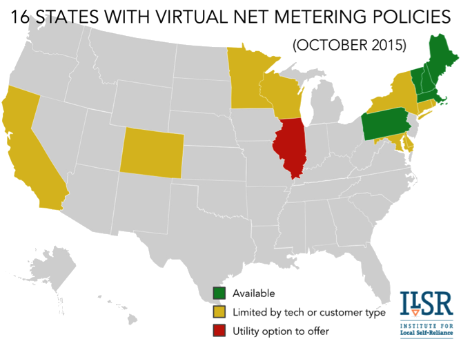 16 states with virtual net metering transparent