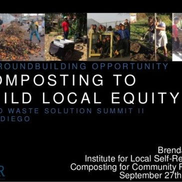 Brenda Platt Speaks to San Diego Food Waste Summit