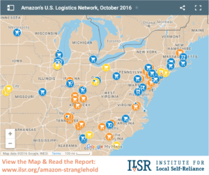 Mapping Amazon's U.S. Logistics Network