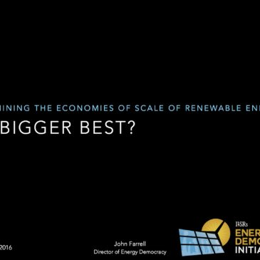 Video: Is Bigger Best in Renewable Energy? Webinar