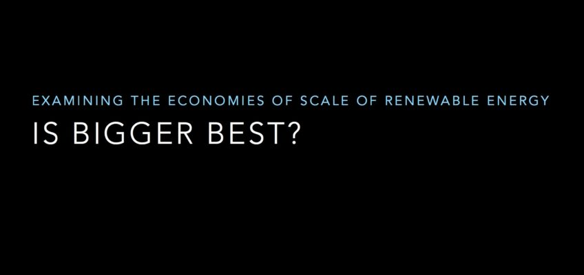 Video: Is Bigger Best in Renewable Energy? Webinar