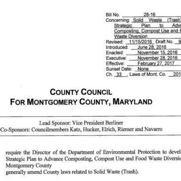 Montgomery County, Maryland Passes Strategic Plan to Advance Composting