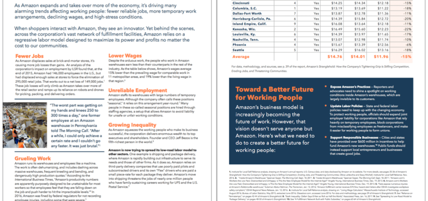 How Amazon Undermines Jobs, Wages, and Working Conditions (Fact Sheet)
