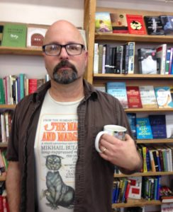 Photo: Shawn Wathen at Chapter One Book Store in Hamilton, Mont.