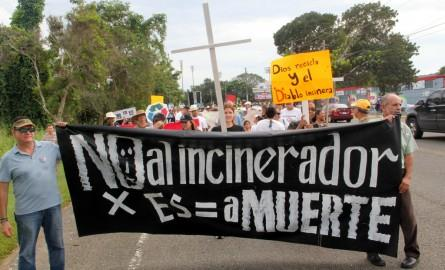 Large Incinerator Being Fought in Puerto Rico