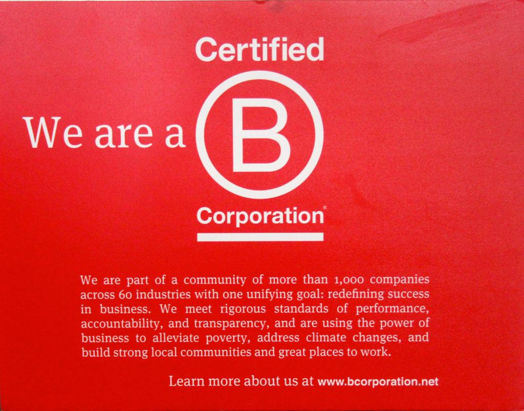 Recertification as a Benefit Corporation
